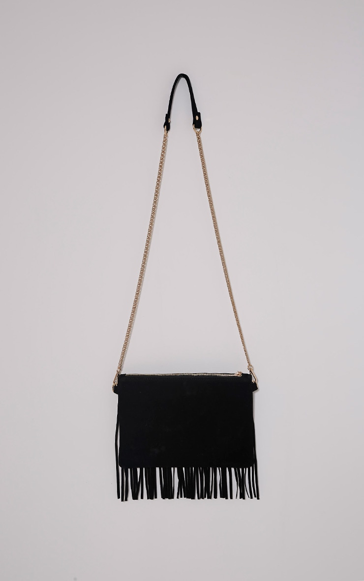 Dany Black Fringe Bag 2