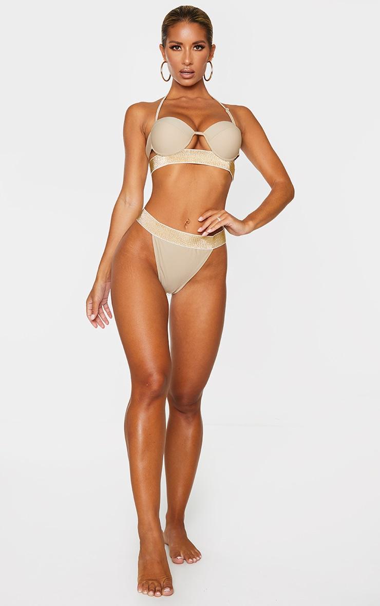 Sand Push Up Cupped Glitter Hem Bikini Top 3