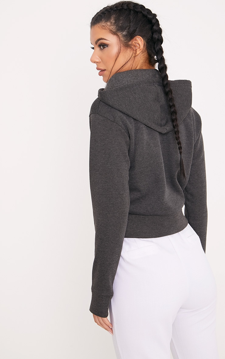 Belle Charcoal Cropped Hoodie 2