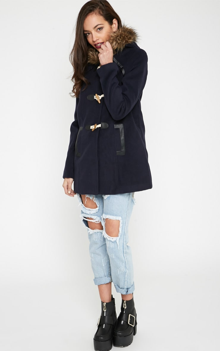 Lilly Navy Duffle Coat  3