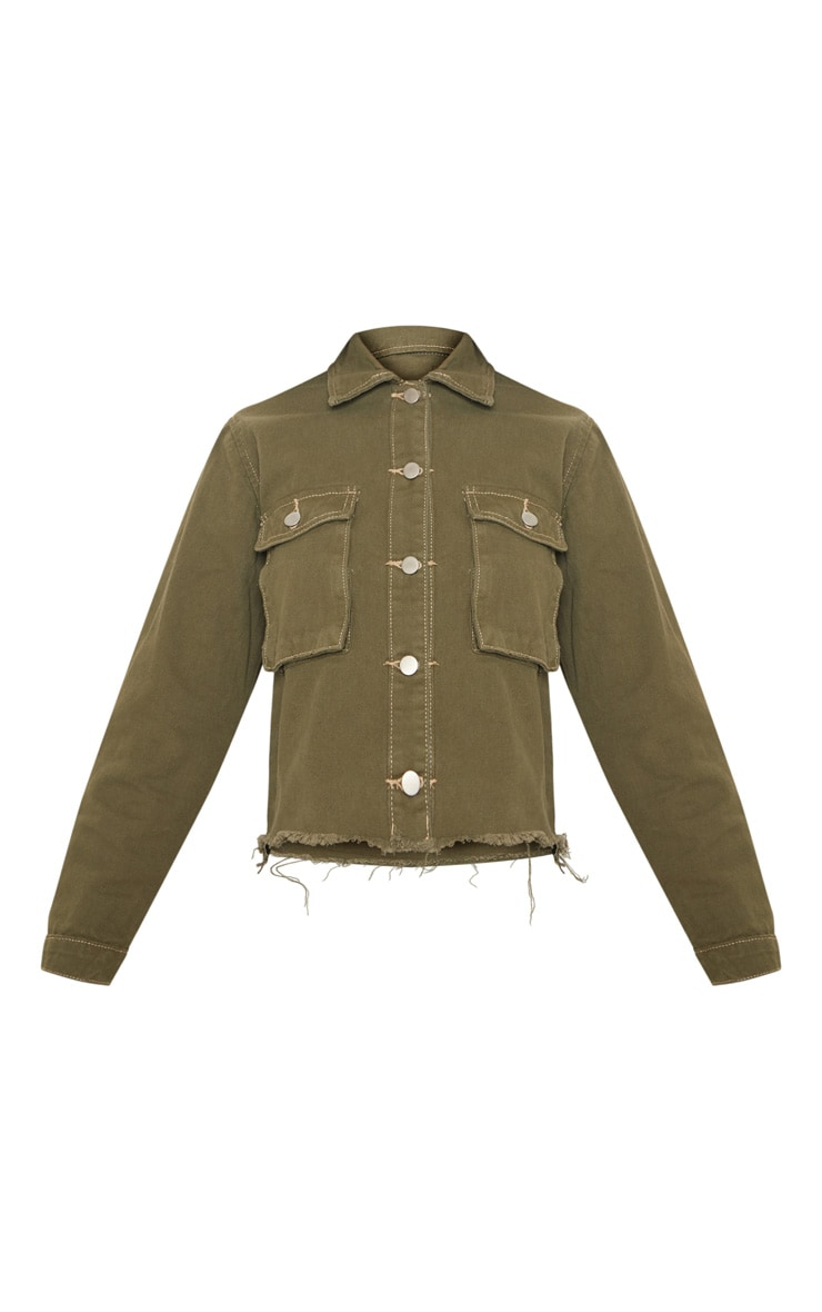 Khaki Trucker Jacket  3