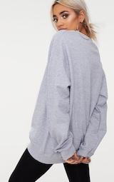 Grey Marl California Slogan Oversized Sweatshirt 2