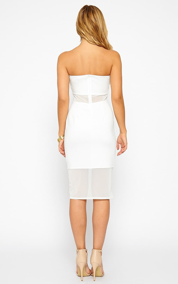 Janelle White Mesh Bandeau Dress 2
