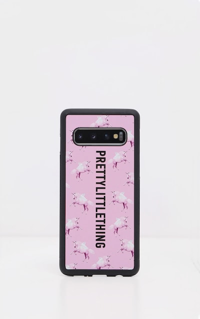 PRETTYLITTLETHING Unicorn Pink Samsung S10 Plus Phone Case