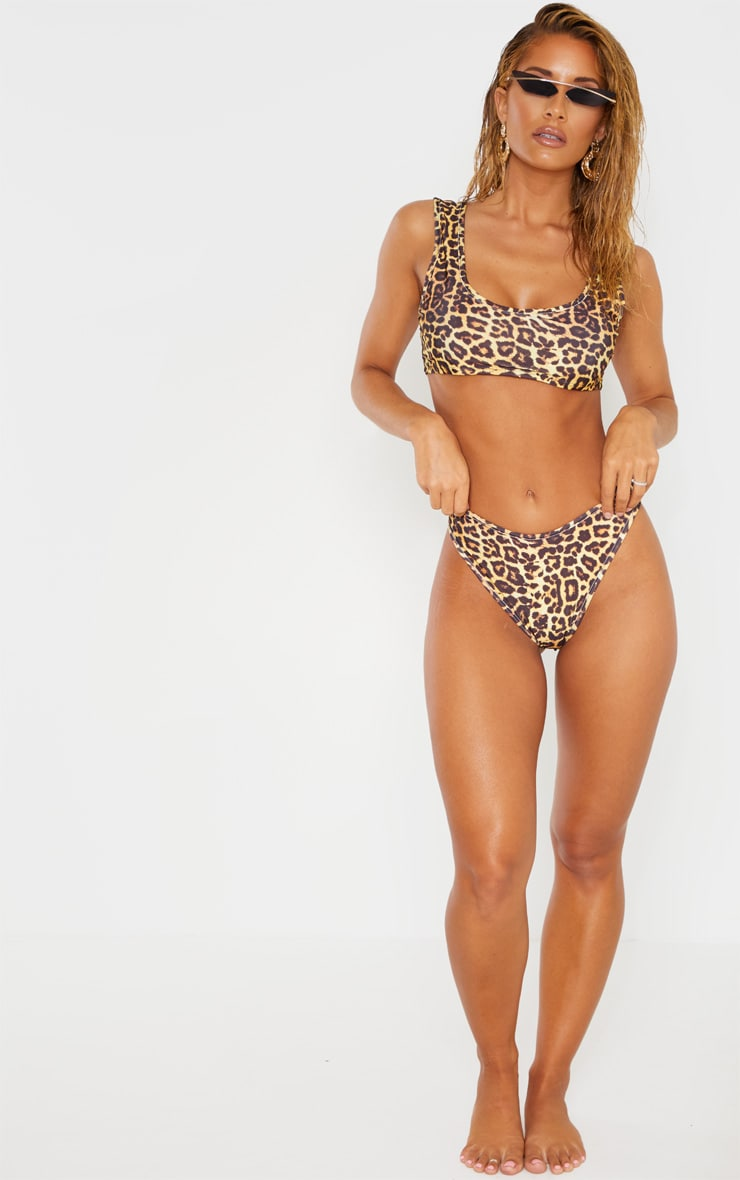 Leopard Mix & Match Cheeky Bum Bikini Bottom 6