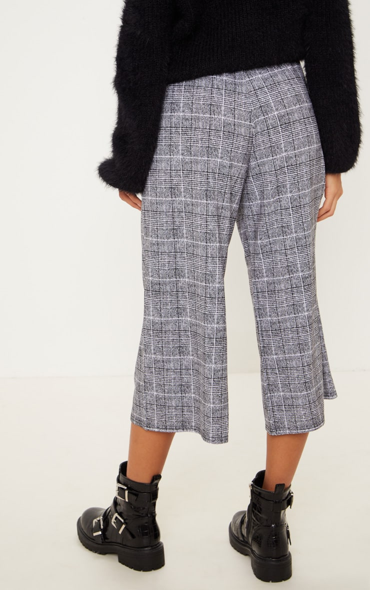 Black Check Culotte 3