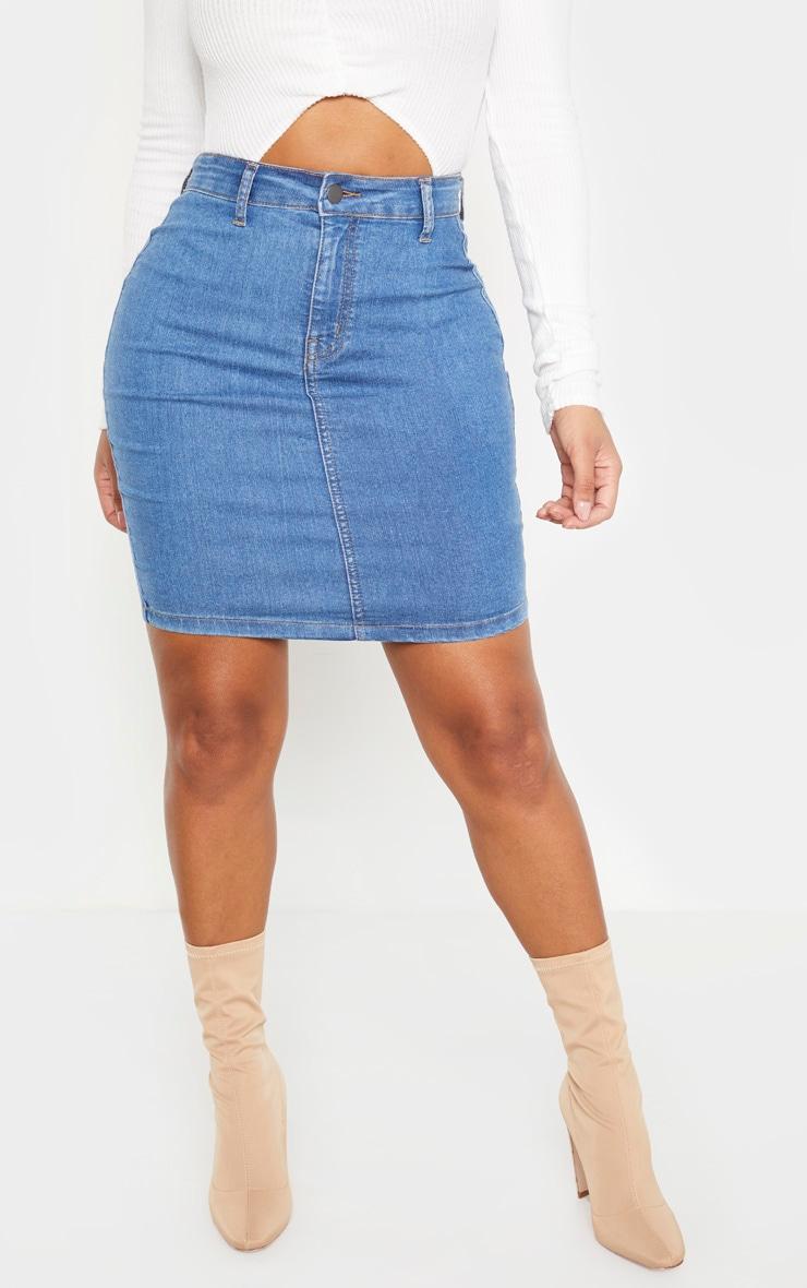 Shape Mid Wash Disco Bodycon Skirt 2
