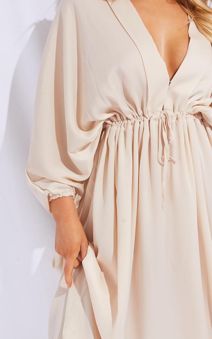 Stone Tie Waist Detail Batwing Sleeve Midi Dress 4
