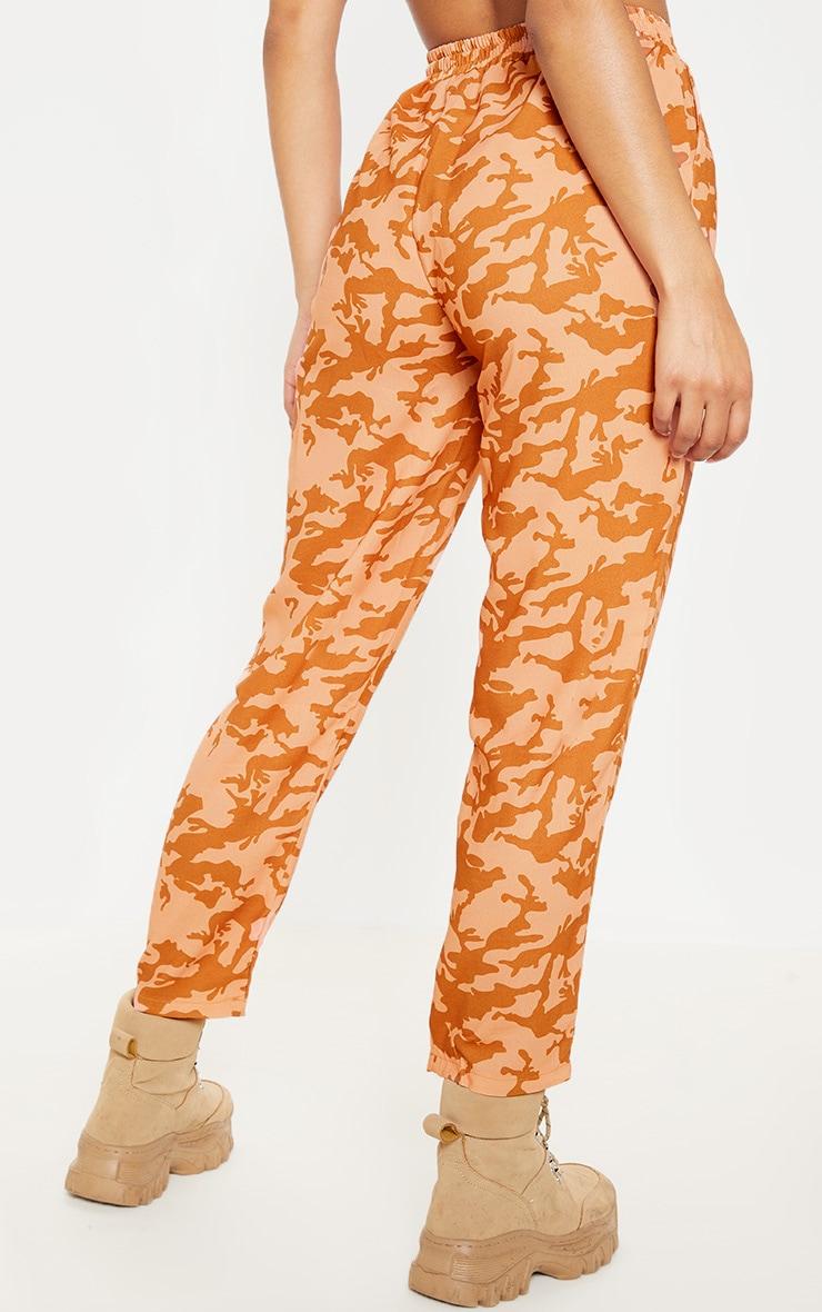 Burnt Orange Camo Print Cigarette Trouser 4