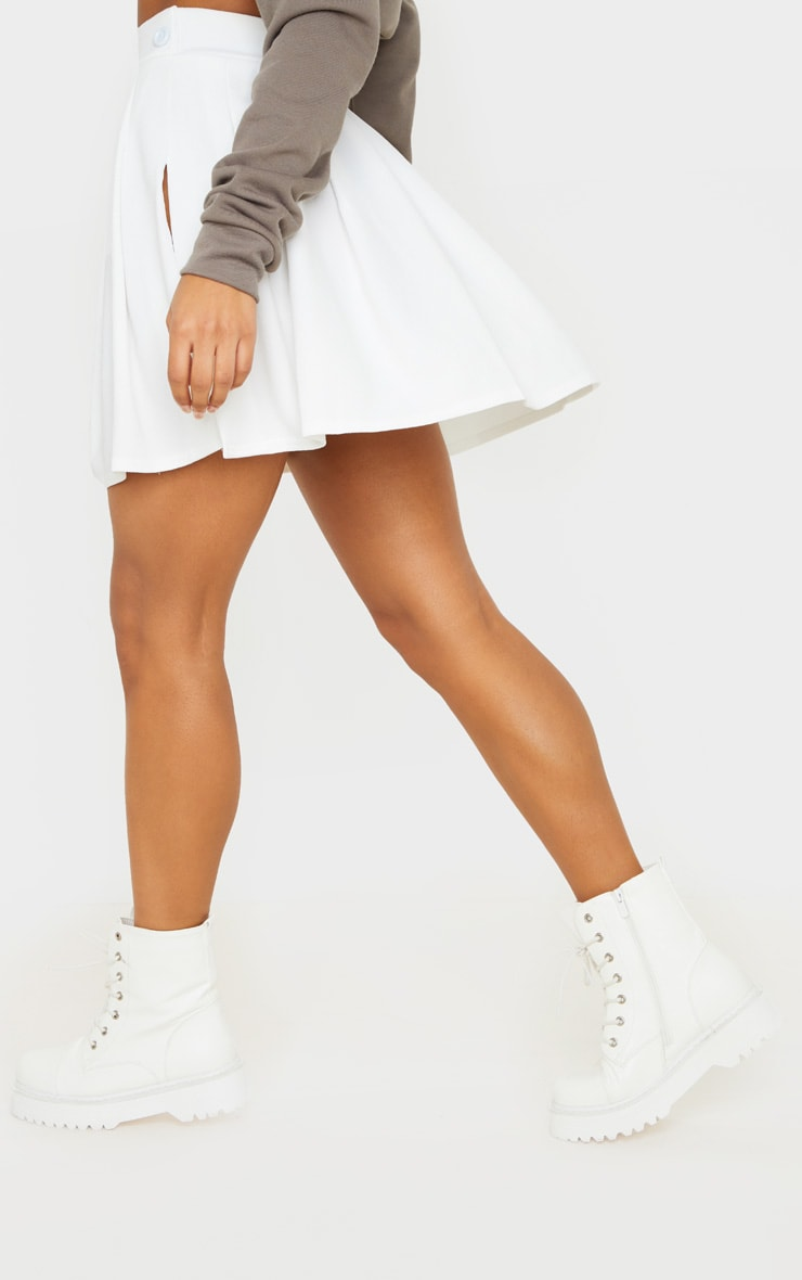 White Pleated Tennis Skirt 4