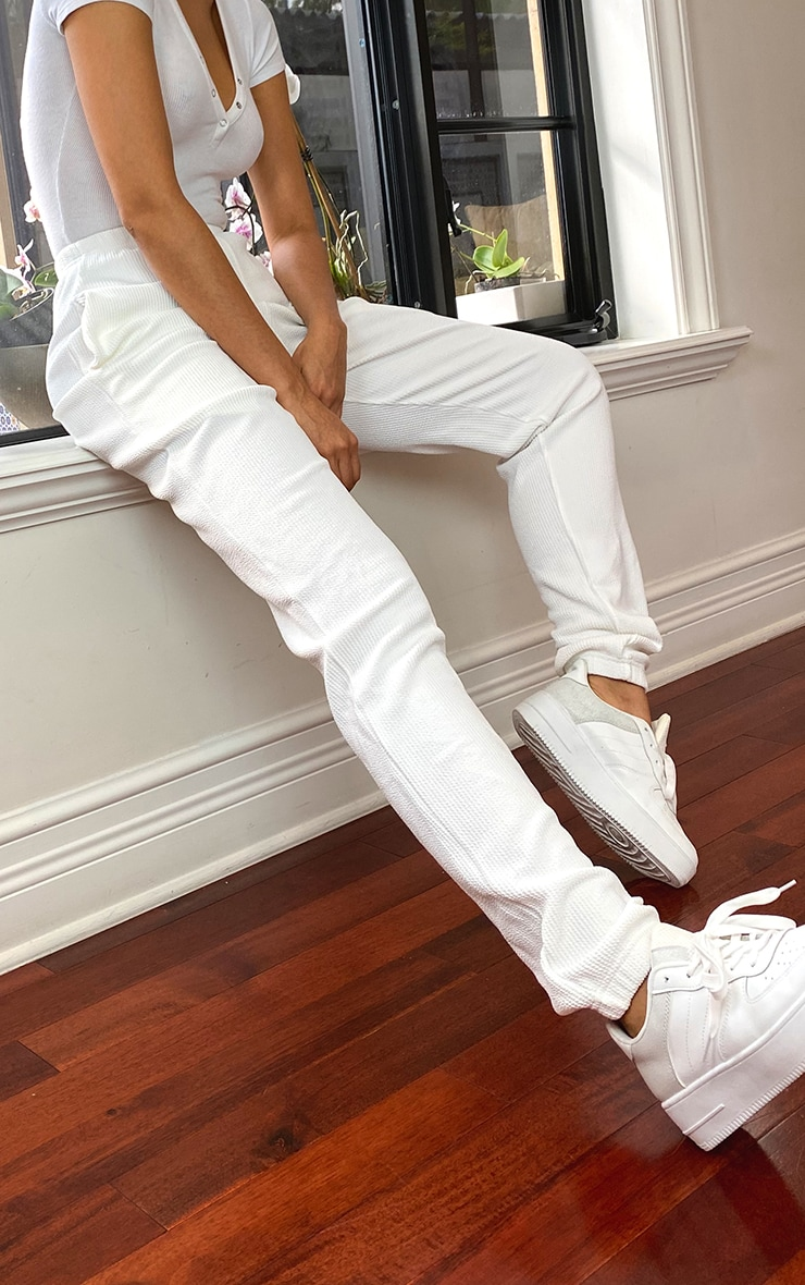 Tall Cream Oversized Crinkle Joggers 2