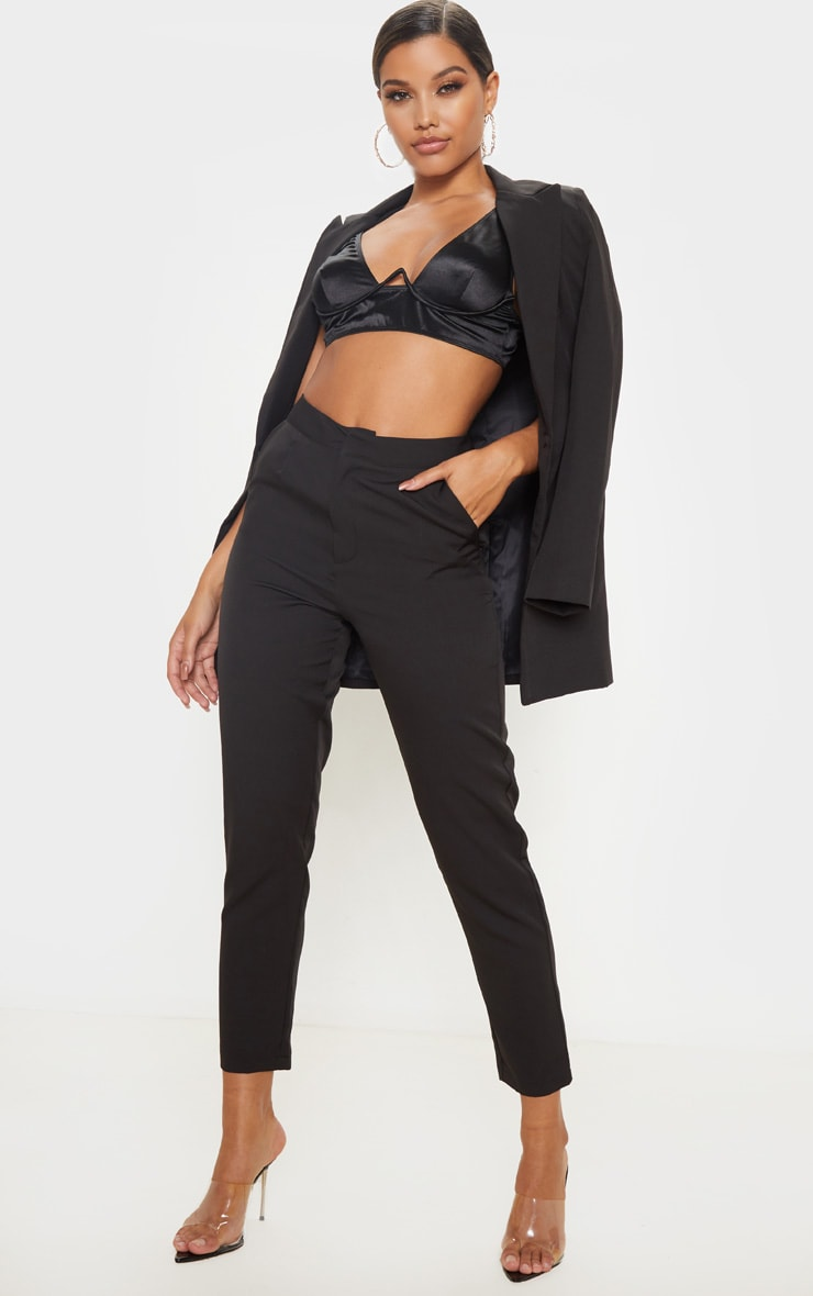 Black Cropped Trousers 1
