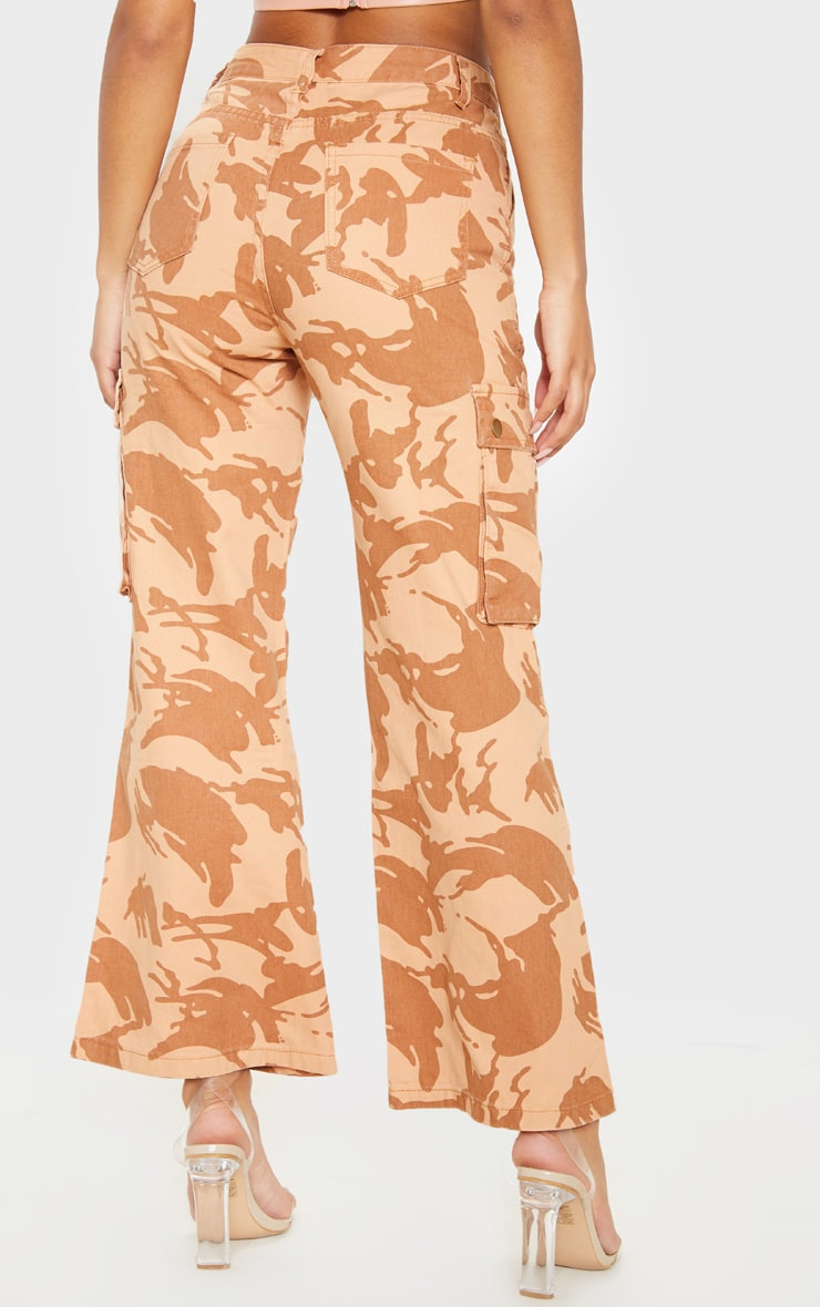 Camo Cargo Baggy Wide Leg Cropped Jeans 4