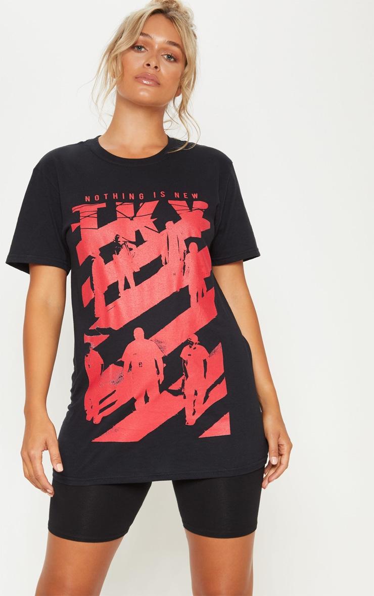 Black Nothing is New Slogan T Shirt 4