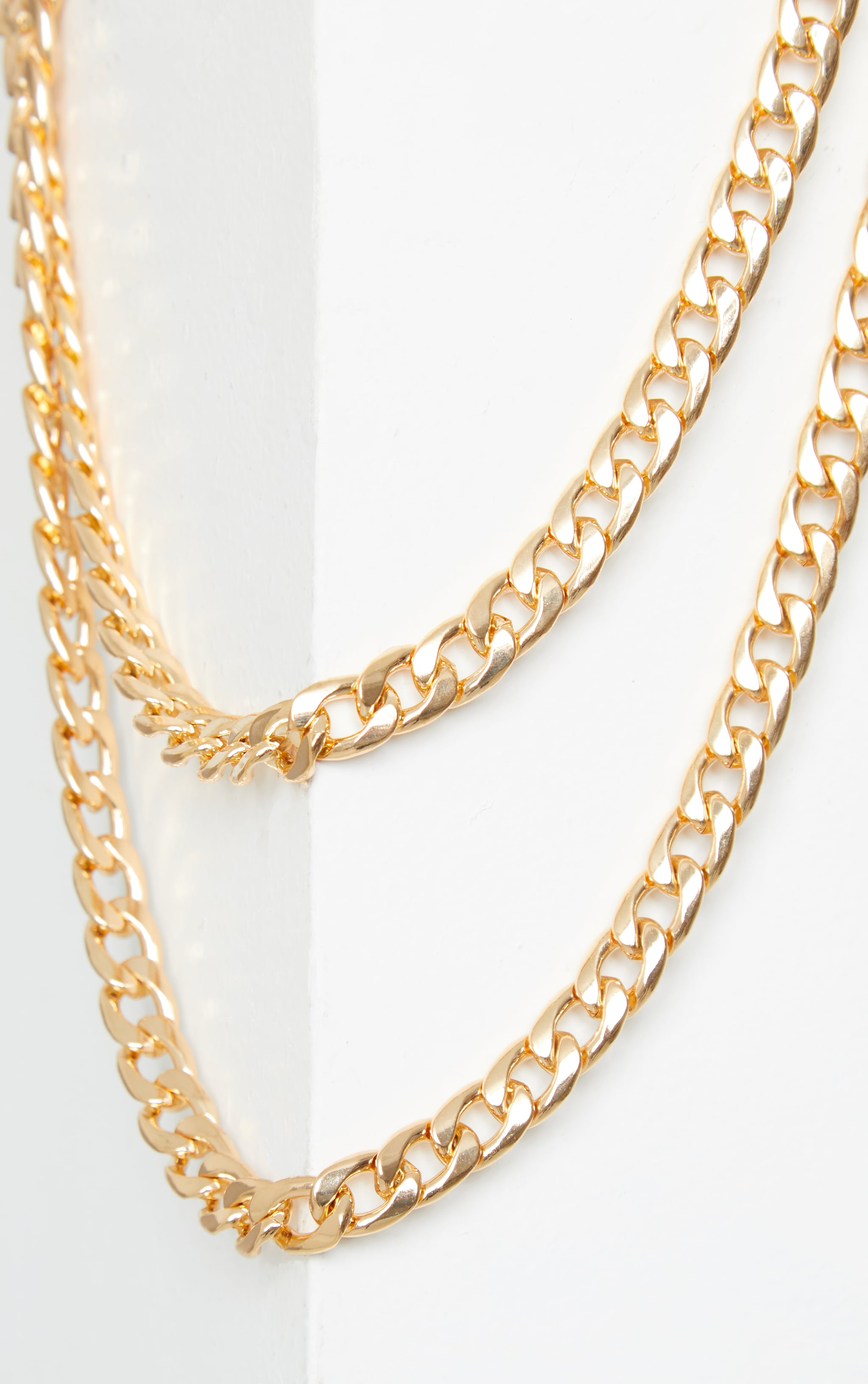 Gold Chunky Double Chain Necklace 3