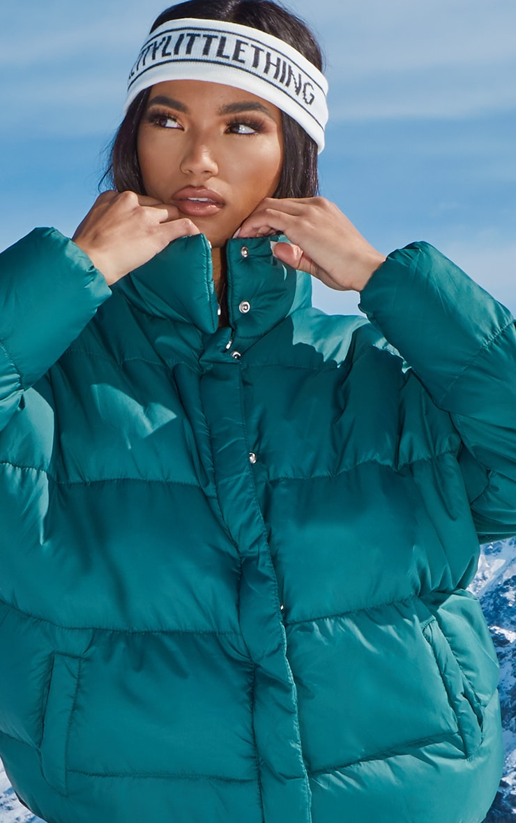 Forest Green Oversized Boyfriend Puffer 5