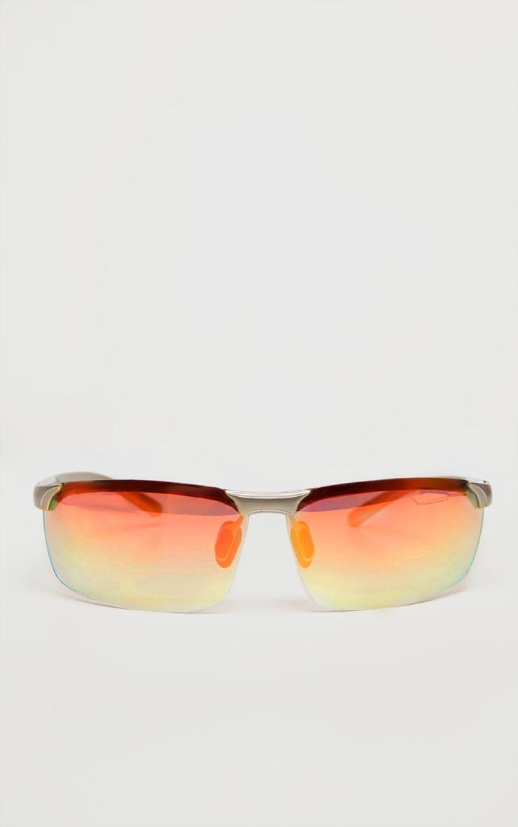 Gold Multi Coloured Lens Sunglasses 2