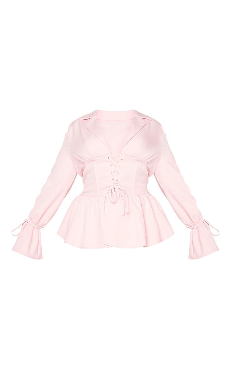 Plus Blush Corset Waist Blazer 5