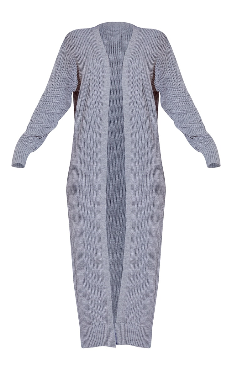 Light Grey Maxi Knitted Cardigan 2