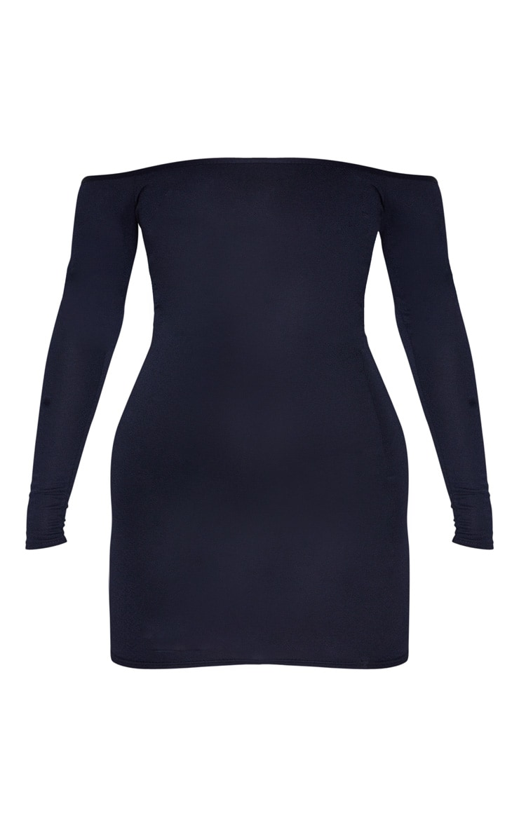 Navy Bardot Bodycon Dress 5