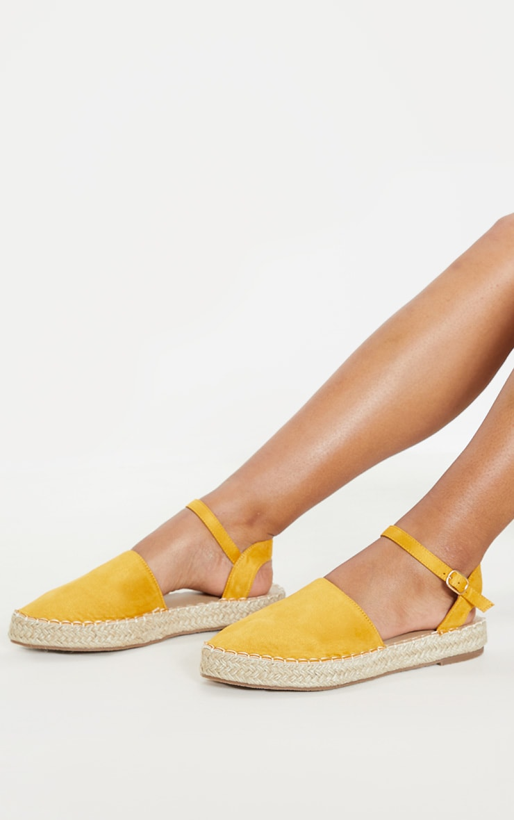 Yellow Espadrille Flat Sandal  2