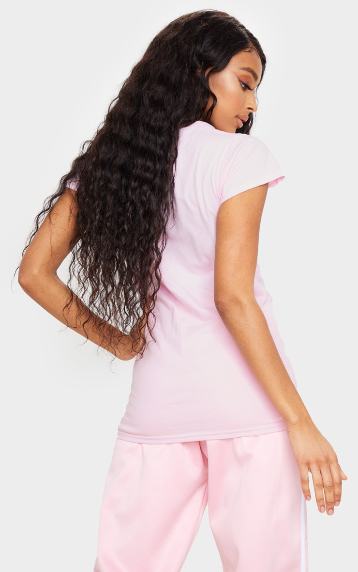 Baby Pink Higher Vibes Printed T Shirt 2