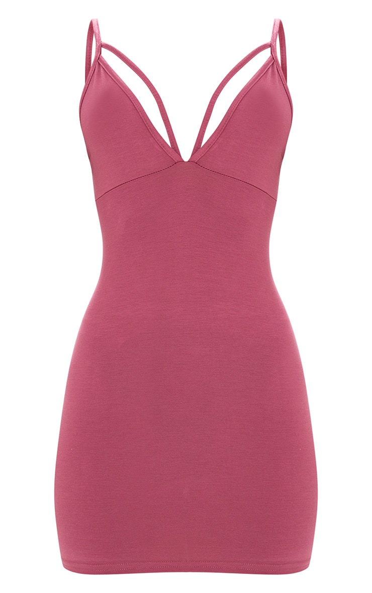 Rose Strap Detail Bodycon Dress 3