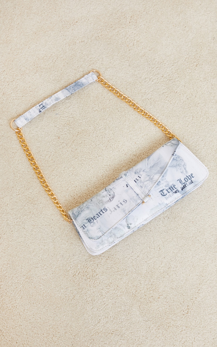 White Renaissance Shoulder Bag 2
