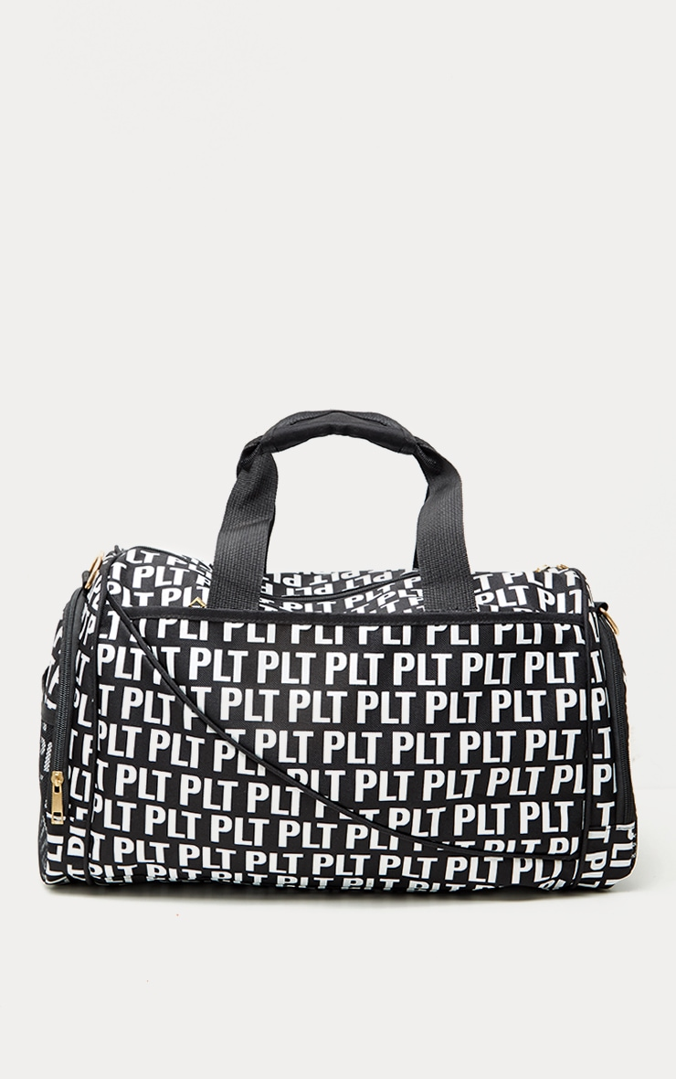 PRETTYLITTLETHING Black Mono Duffle Bag 2