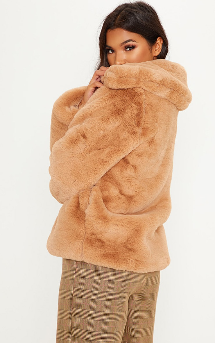 BEIGE FUR JACKET  2