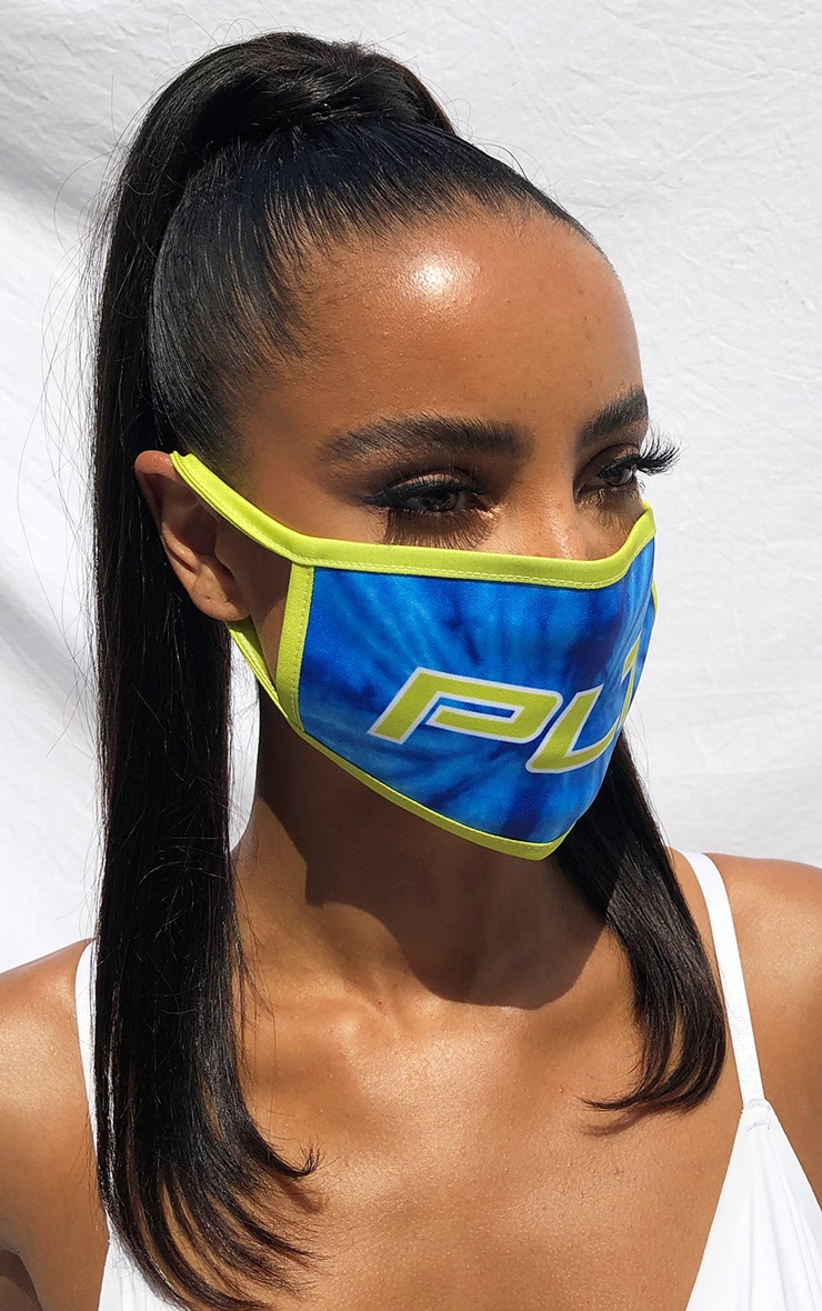 PLT Blue Contrast Fashion Mask 2