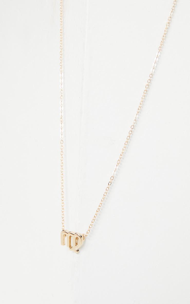 Gold Virgo Star Sign Necklace 3