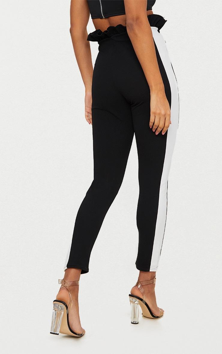 Black Side Stripe Paperbag Skinny Pants 4