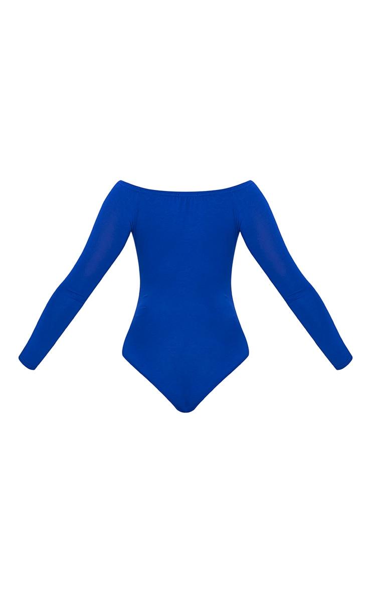 Basic Cobalt Bardot Bodysuit 4