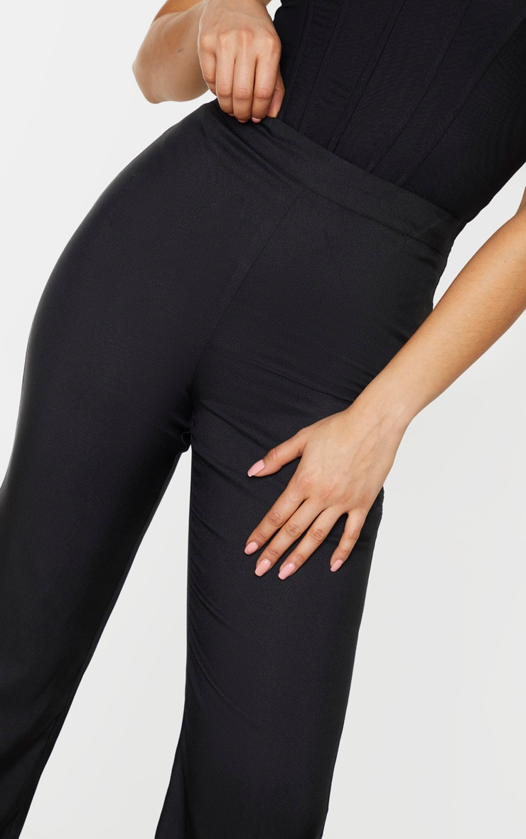 Tall Black Wide Leg Flared Trouser 5