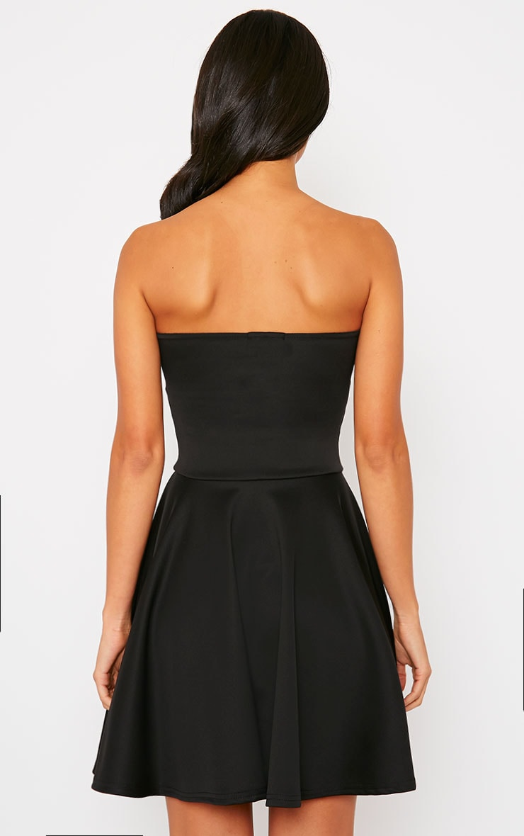 Marissa Black Strapless Skater Dress 2