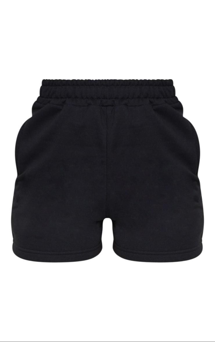 Black Sweat Pocket Shorts 6