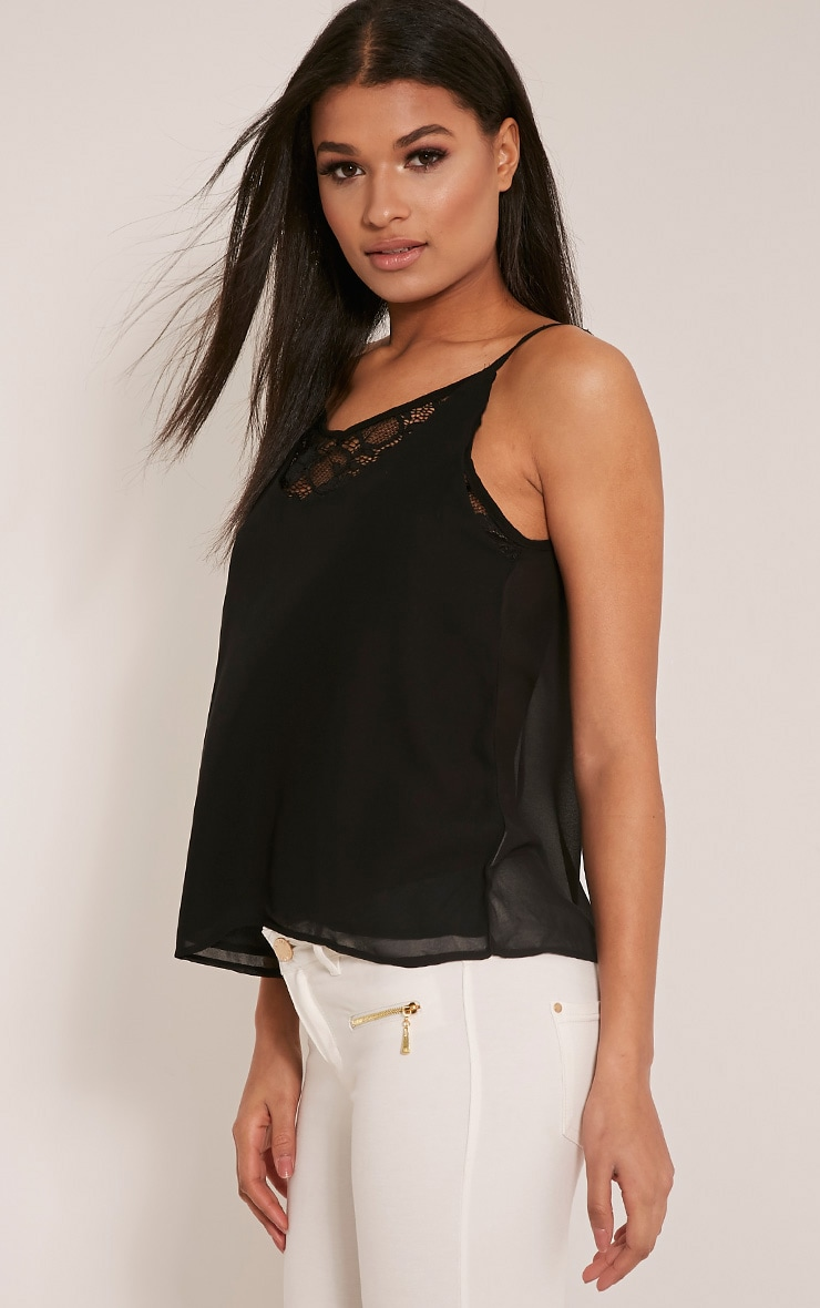 Sienna Black Lace Insert Cami Top 4