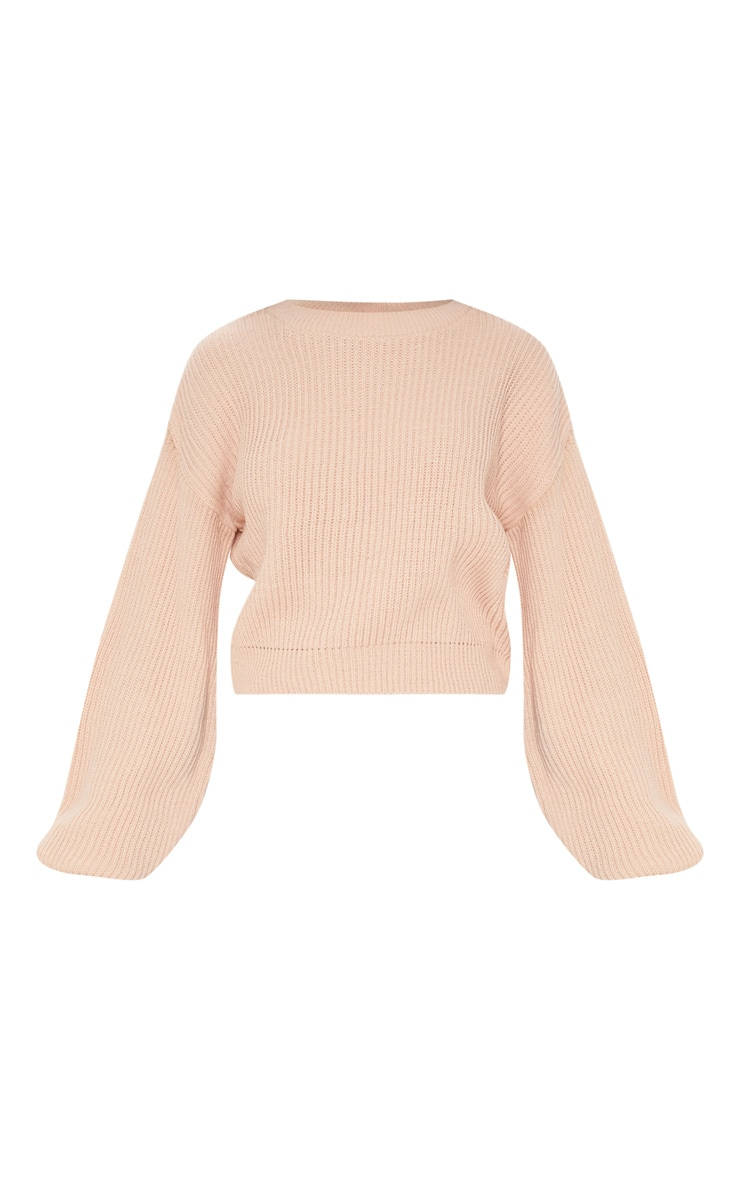 Blush Wide Sleeve Knitted Jumper 3