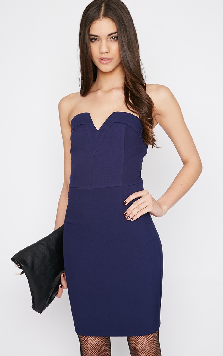 Amarissa Blue Strapless Dress 1