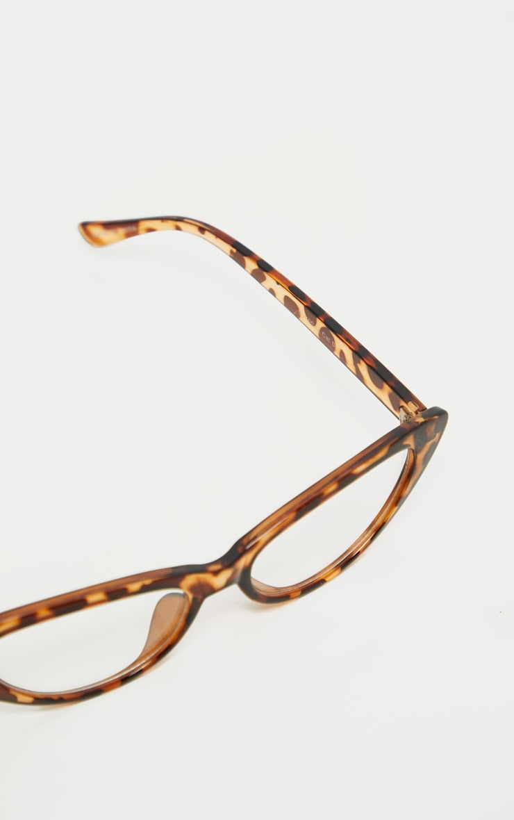 Leopard Frame Pointed Cat Eye Readers 3