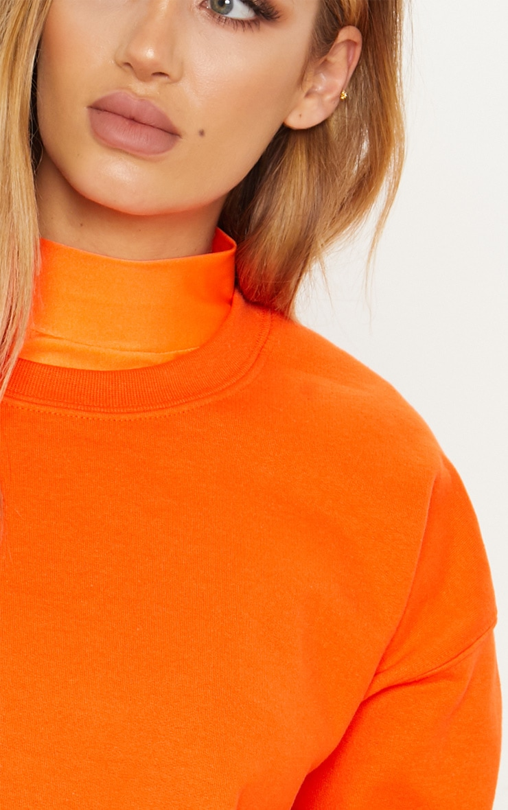 Sweat oversize orange classique 4