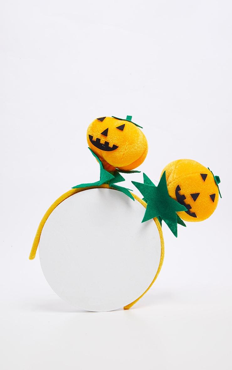 Orange Large Pumpkin Bobble Headband 2