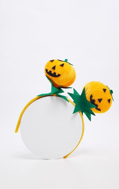 Orange Large Pumpkin Bobble Headband