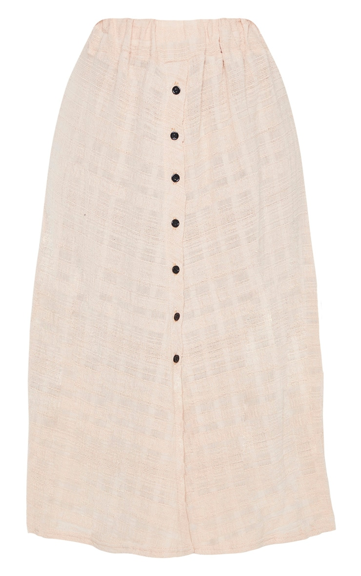 Stone Cotton Button Up Beach Skirt 6