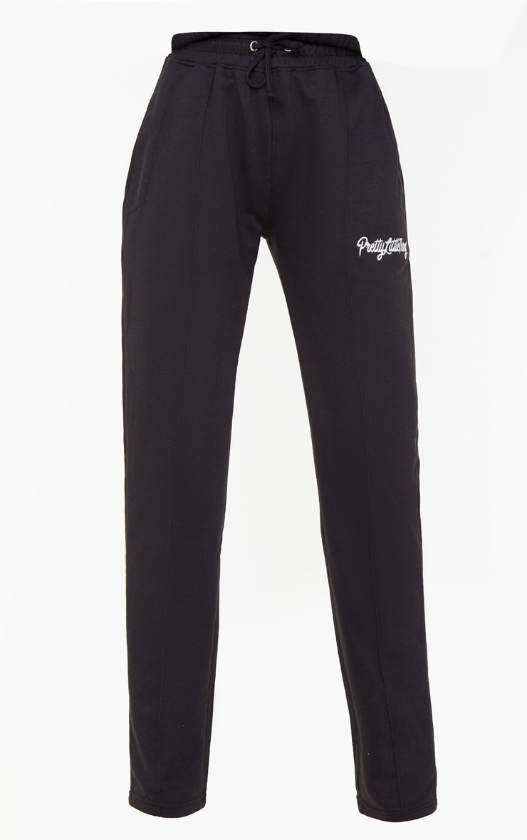 PRETTYLITTLETHING Black Tapered Joggers 3