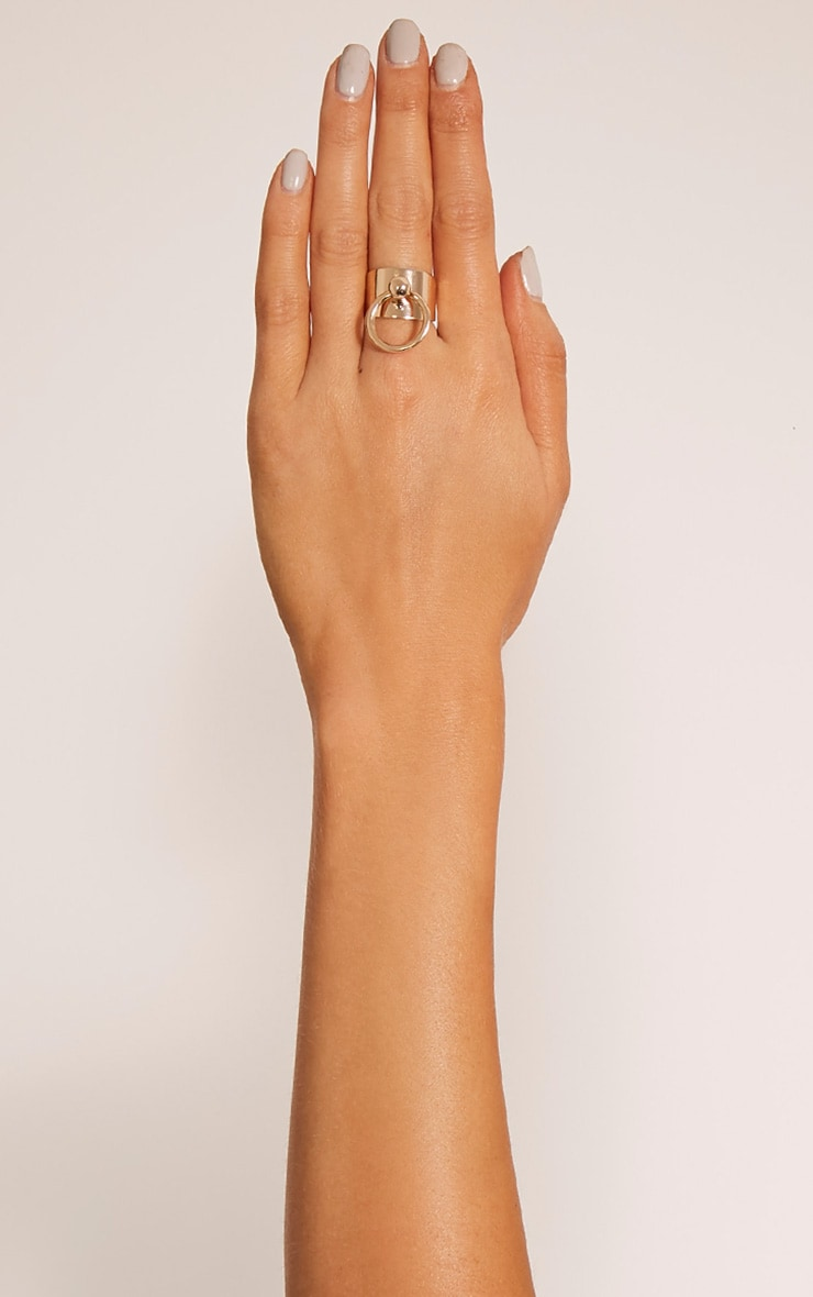 Deana Gold Adjustable Ring 1