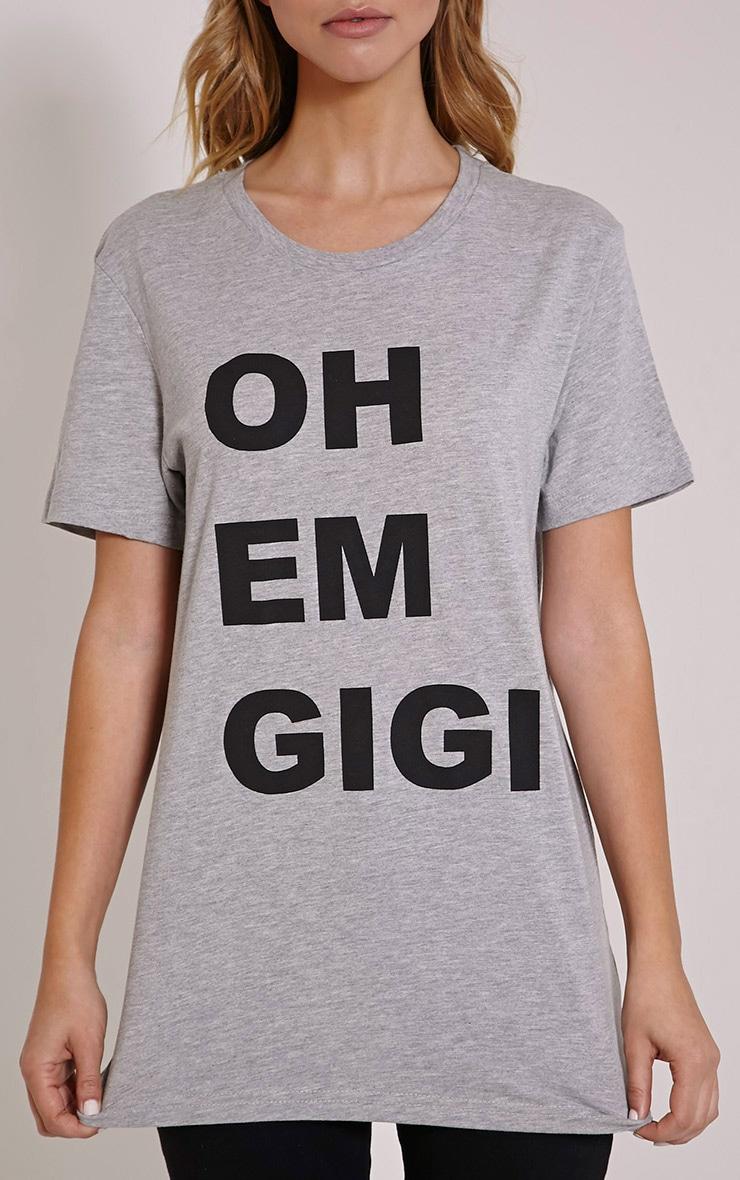 Oh Em Gigi Grey T Shirt 5