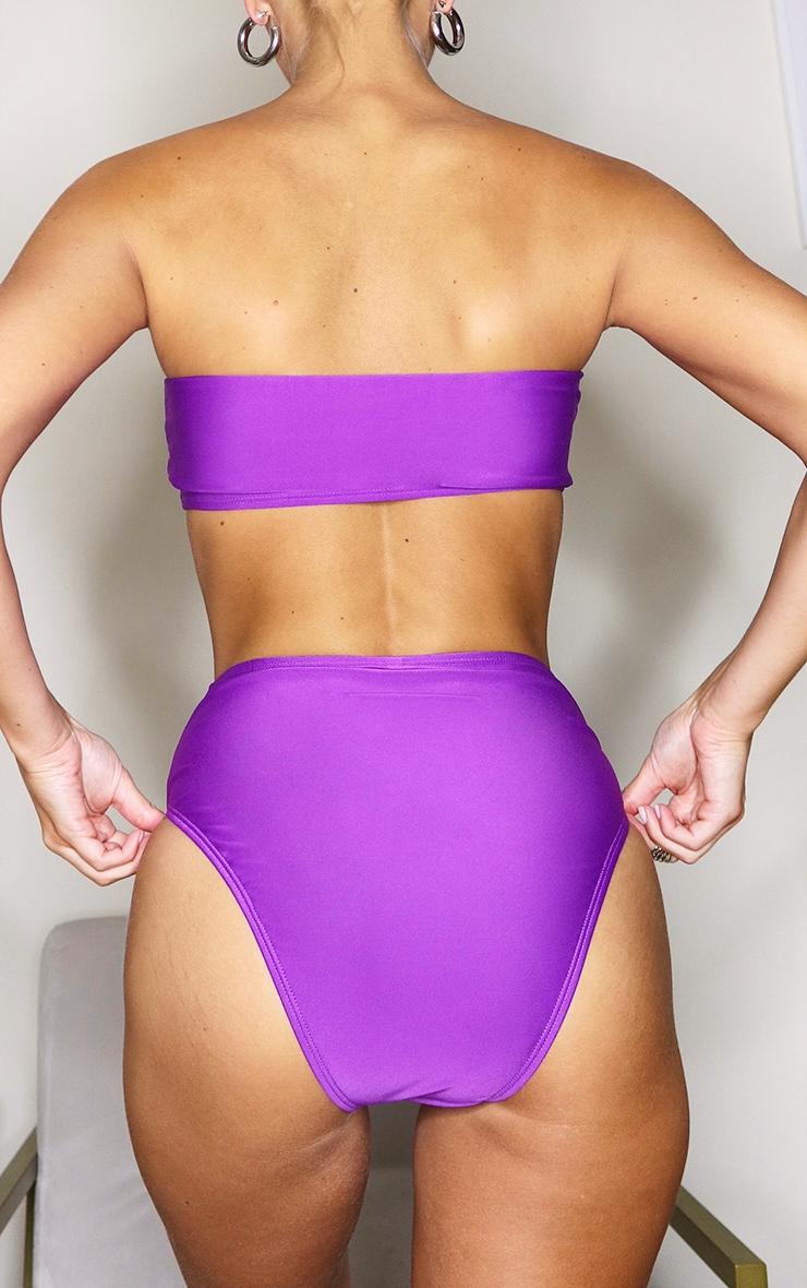 Purple Mix & Match High Waist Bikini Bottoms 4