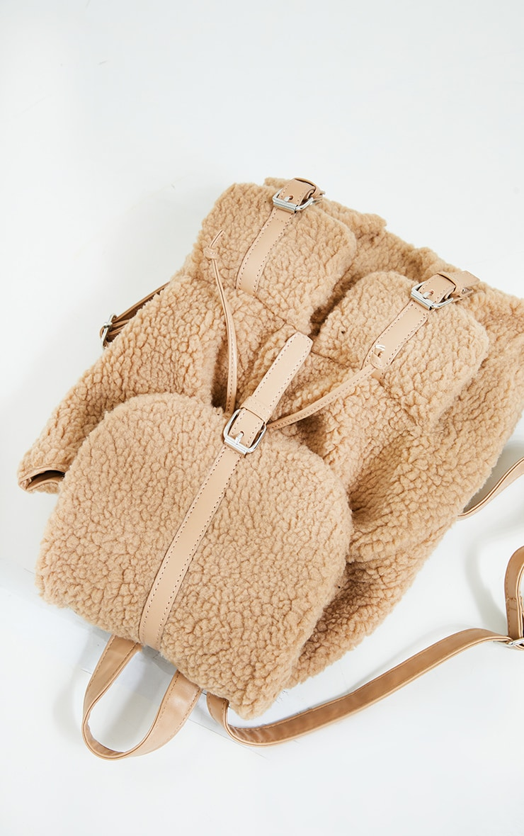 Tan Fur Backpack 3